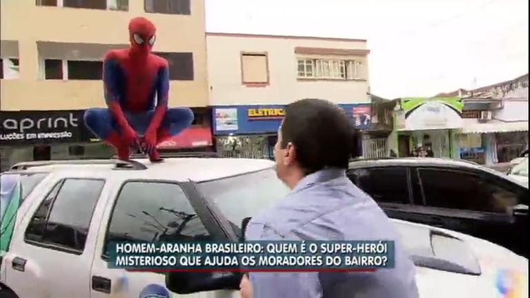 """Balanço Geral SP encontra o misterioso """"Homem Aranha"""" de ..."""