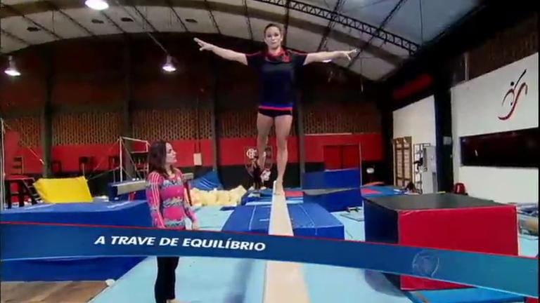 Luisa Parente e Jade Barbosa explicam o que é a trave, um dos ...