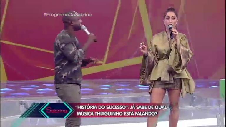 Thiaguinho agita o público com seus hits no quadro História do ...