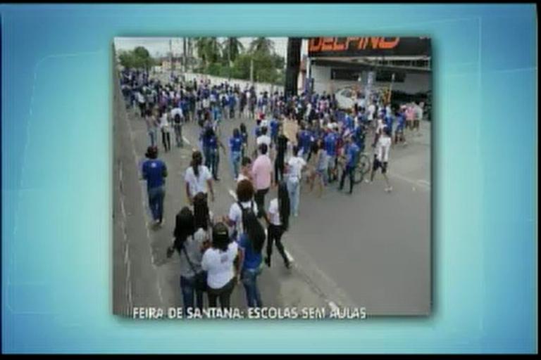Feira de Santana escolas sem aulas - Bahia - R7 Balanço Geral BA