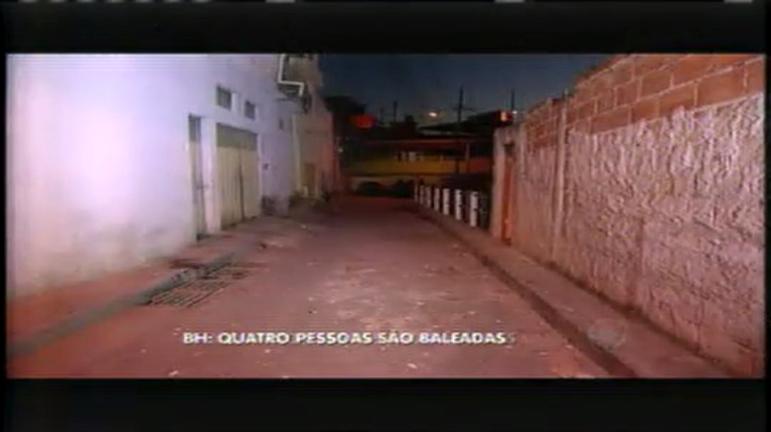 Quatro pessoas são baleadas nesta madrugada no bairro Serra Verde
