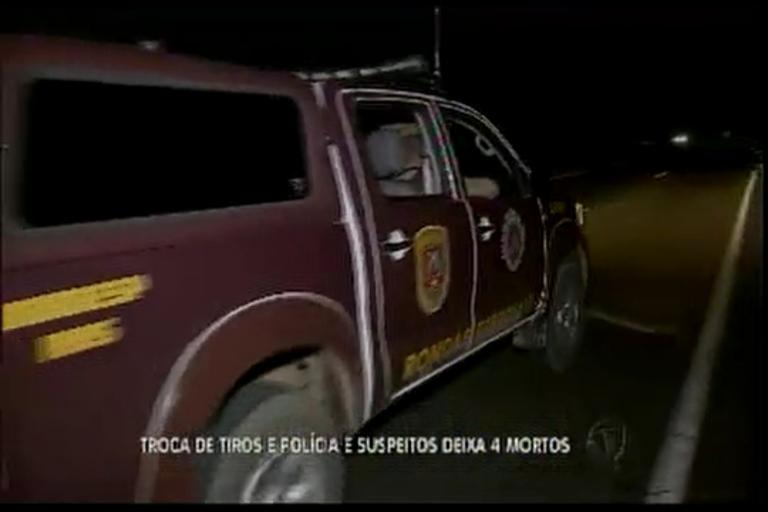 Troca de tiros entre polícia e suspeitos deixa 4 mortos - Bahia - R7 ...