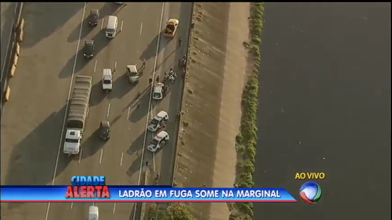 Ladrão 'desaparece' durante fuga na marginal Tietê, em São Paulo ...