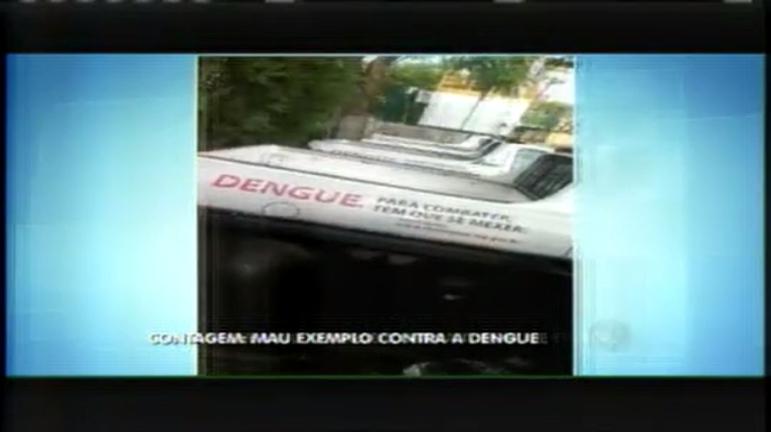 Carros do combate à dengue de Contagem acumulam água parada ...