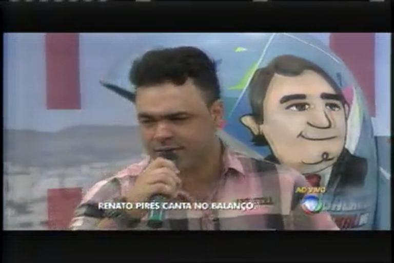 Renato Pires canta sucessos da música sertaneja no Balanço Geral ...