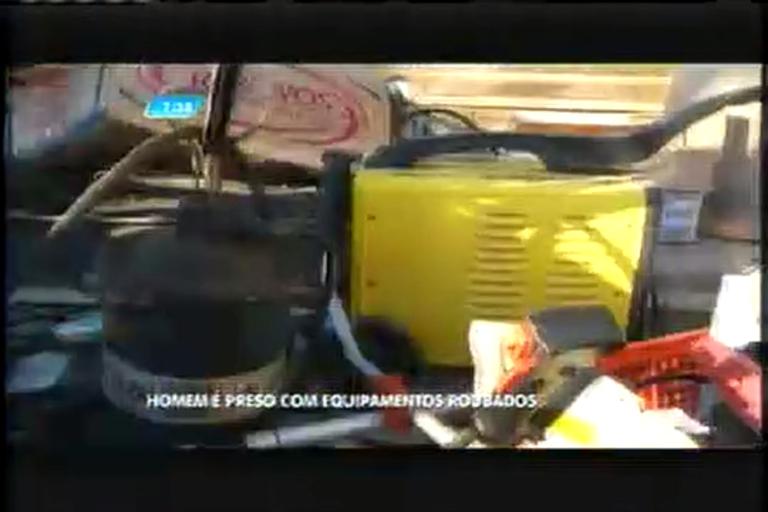 Homem é preso com equipamentos roubados de obra - Minas ...