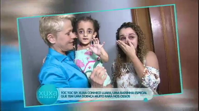 Toc Toc: em São Paulo, Xuxa realiza sonho de menina com doença ...