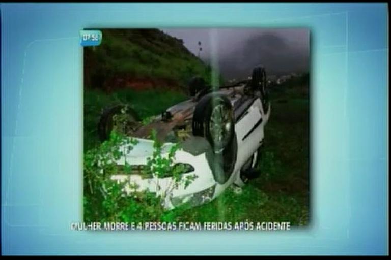 Mulher morre e 4 pessoas ficam feridas após acidente - Bahia - R7 ...