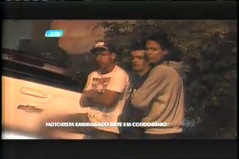 Motorista bêbado bate em muro de condomínio - Minas Gerais - R7 ...