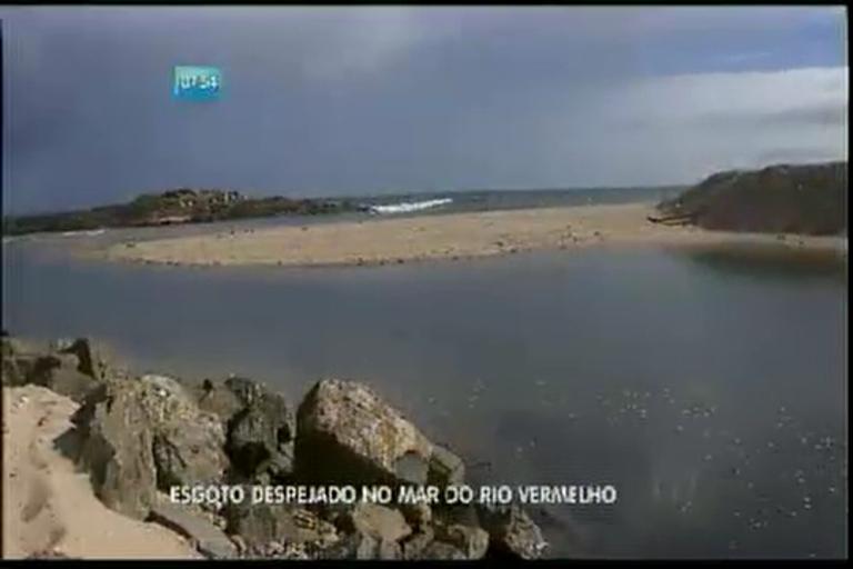 Esgoto despejado no mar do Rio Vermelho - Bahia - R7 Bahia no Ar