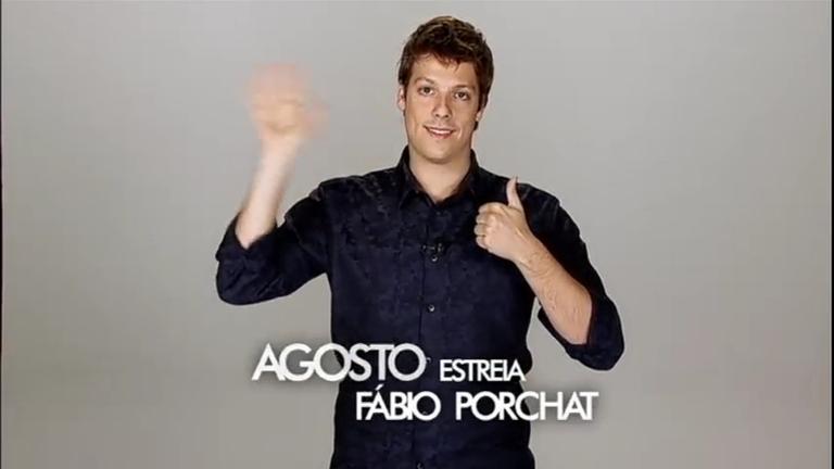 Fique ligado: em agosto, Fábio Porchat estreia na tela da Record