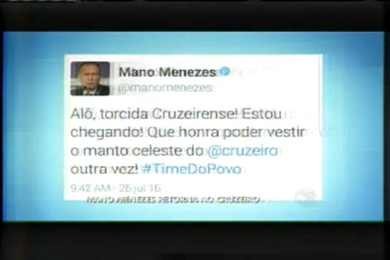 Esporte: Mano confirma volta para Cruzeiro - Minas Gerais - R7 ...