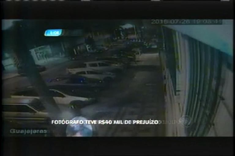 Ladrão furta equipamentos de fotógrafo e causa prejuízo de R$40 mil