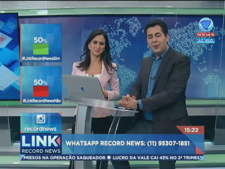 Assista à íntegra do Link Record News edição da tarde desta quinta-feira (28)