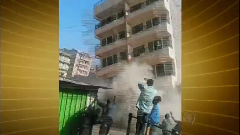 Vídeo mostra momento em que prédio de cinco andares desaba no ...