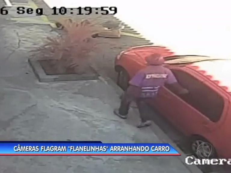 Flanelinhas são flagrados arranhando carro em Vila Isabel, na zona ...