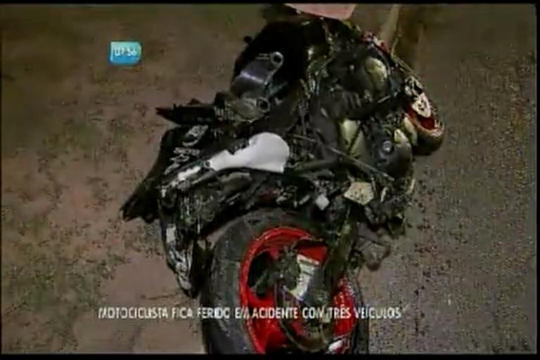 Motociclista fica ferido em acidente com três veículos - Bahia - R7 ...