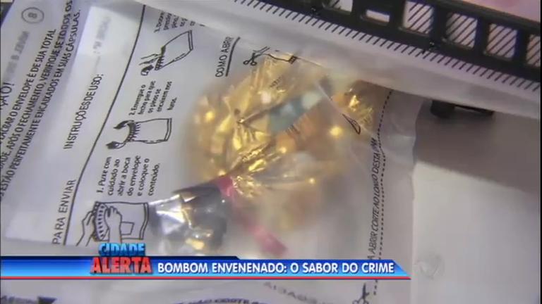 Menina de dois anos come bombom envenenado enviado para a mãe