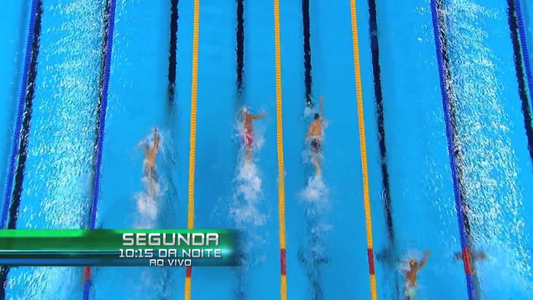 Acompanhe ao vivo as finais da natação na noite desta segunda-feira