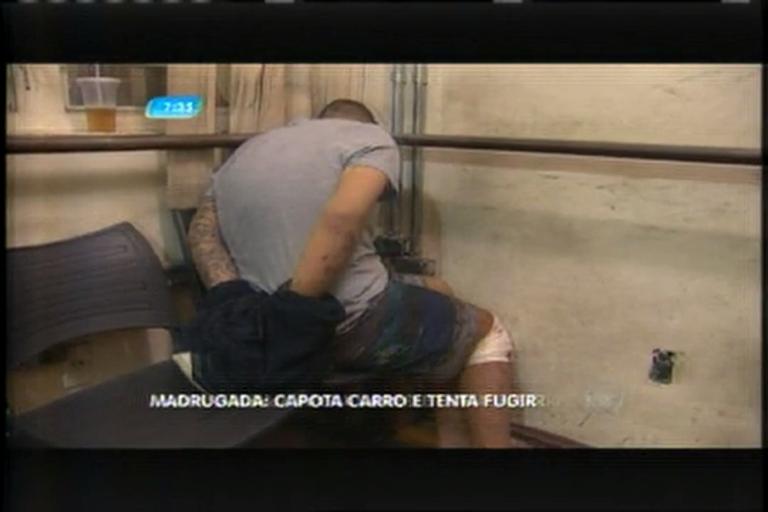 Homem capota carro e tenta fugir da Polícia Militar - Notícias - R7 ...