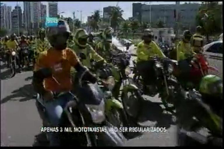 Apenas 3 mil mototaxistas vão se regularizados
