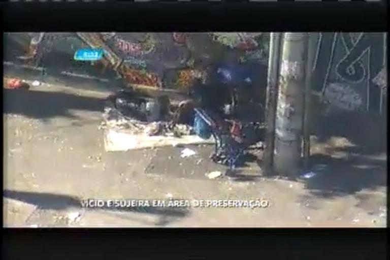 Usuários de drogas invadem área de preservação ambiental em Belo Horizonte