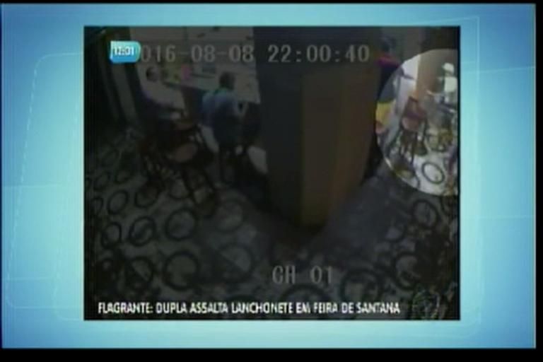 Dupla assalta lanchonete em Feira de Santana - Bahia - R7 ...
