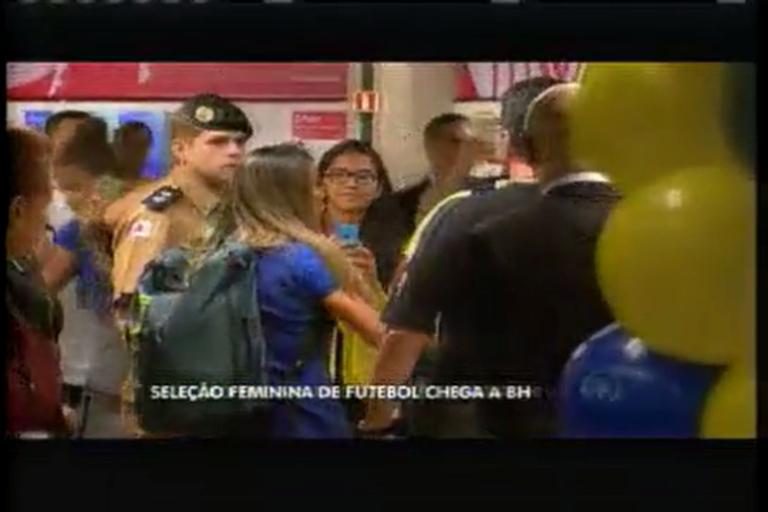 Esporte: Seleção olímpica de futebol feminino chega em BH - Minas ...