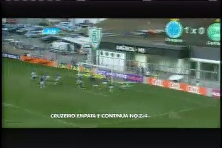 Cruzeiro empata e continua na zona de rebaixamento do Brasileirão