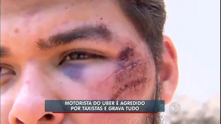 """Motorista do Uber é espancado por taxistas em Goiânia: """"Eu achei ..."""