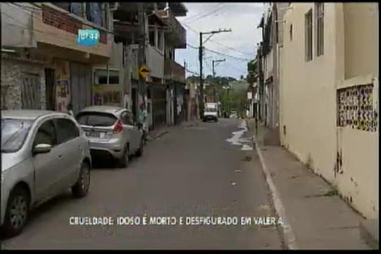 Idoso é morto e desfigurado em Valéria - Bahia - R7 Bahia no Ar