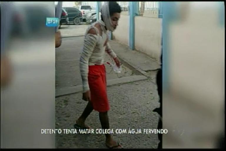 Detento tenta matar colega com água fervendo - Bahia - R7 Bahia ...