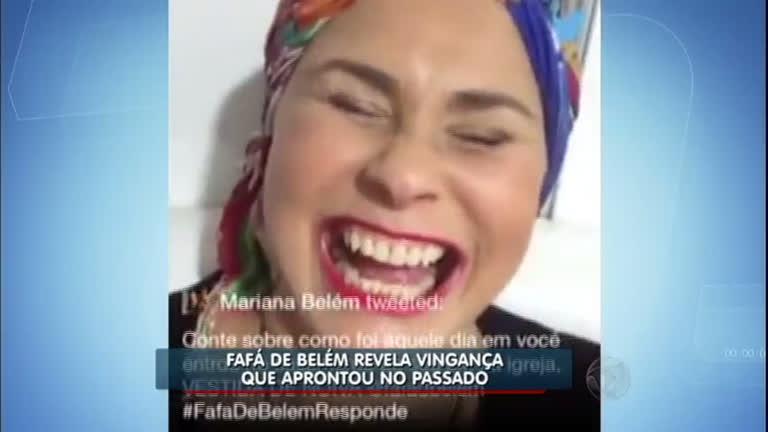 Hora da Venenosa: Fafá de Belém usa vestido de noiva em ...