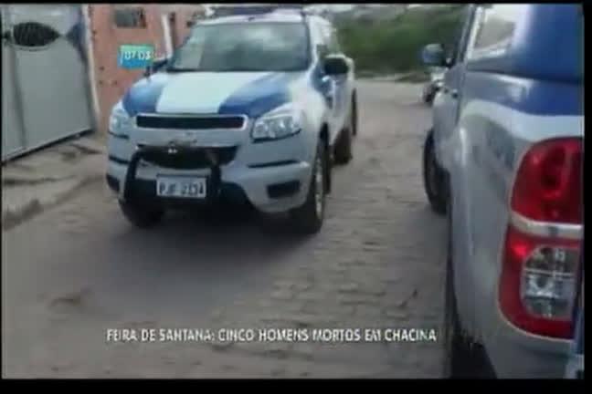 Cinco pessoas são mortas em chacina em Feira de Santana - Bahia ...