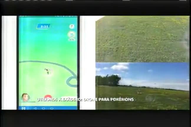 Jogadores usam drones para capturar Pokémons