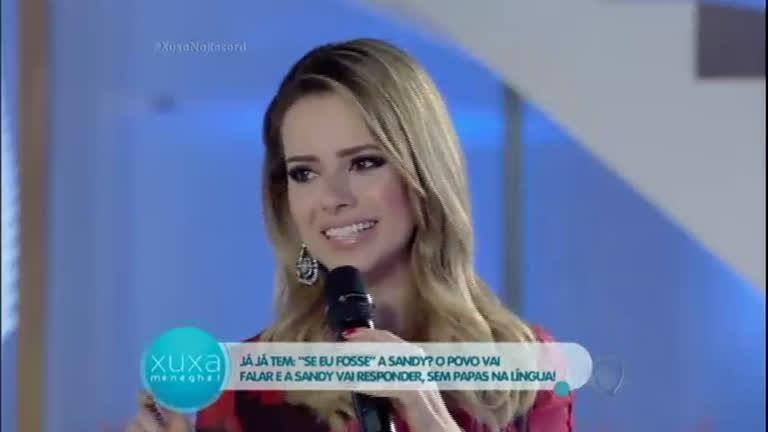 Papo Reto: Xuxa relembra entrevista que fez quando Sandy tinha ...