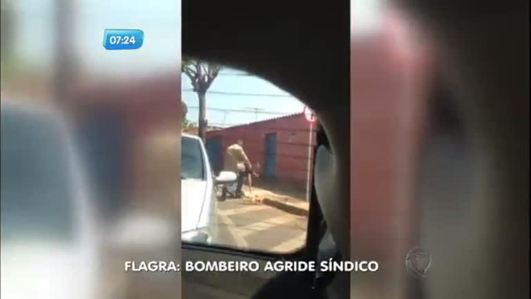 Bombeiro é flagrado agredindo síndico do condomínio onde mora ...