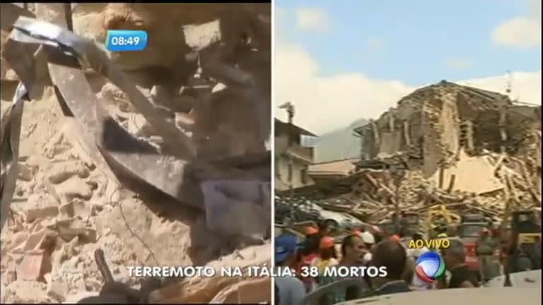 Terremoto mata, pelo menos, 38 pessoas na Itália - Notícias - R7 SP ...