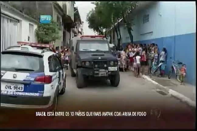 Brasil está entre os 10 países que mais matam com arma de fogo