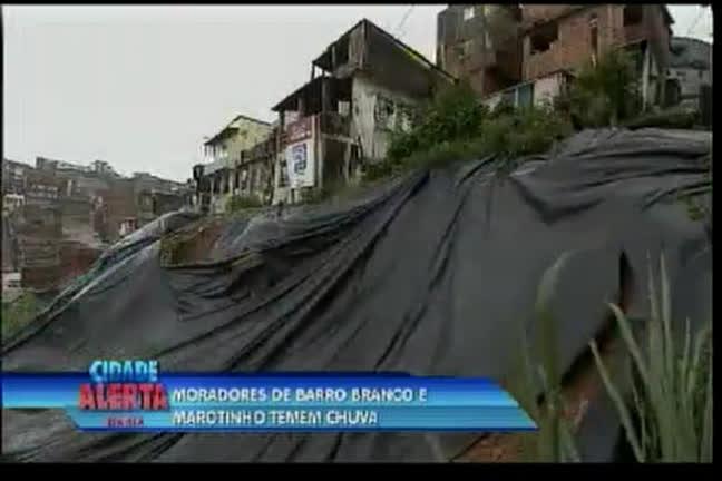 Moradores do Marotinho e Barro Branco temem chuva