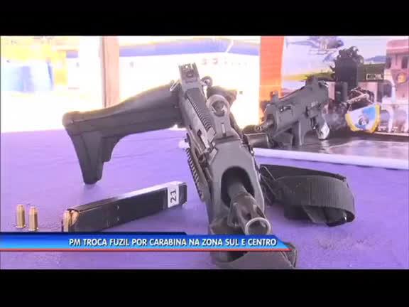 PM troca fuzil por carabina na zona sul e no centro