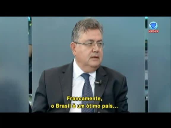 Heródoto Barbeiro conversa com embaixador da Turquia no Brasil,Hüseyin Diriöz