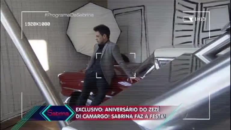 Sabrina faz surpresa para Zezé Di Camargo - Entretenimento - R7 ...