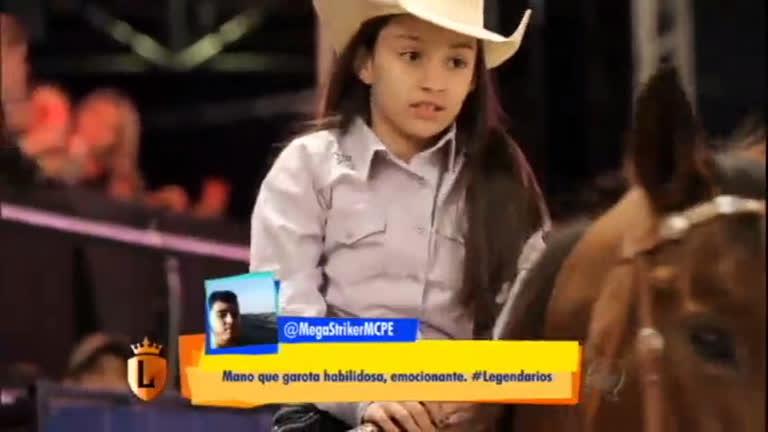 Ana Júlia dá show sobre cavalo em competição no rodeio de São ...