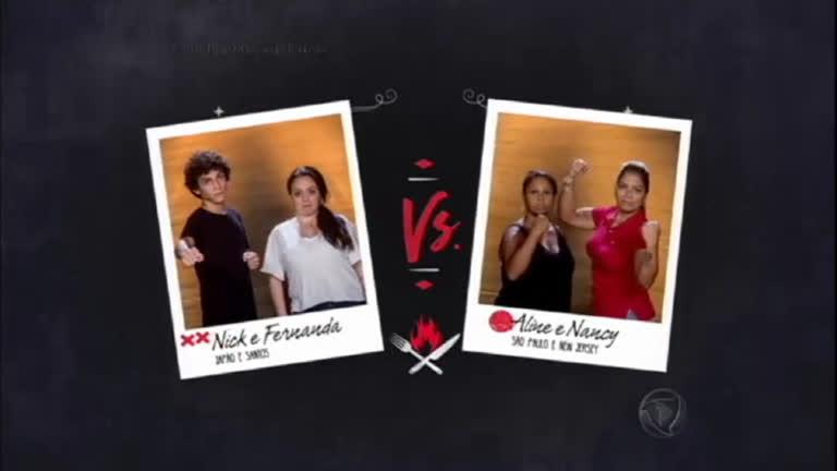 Aline e Nancy enfrentam Nick e Fernanda no Desafio da Geladeira ...