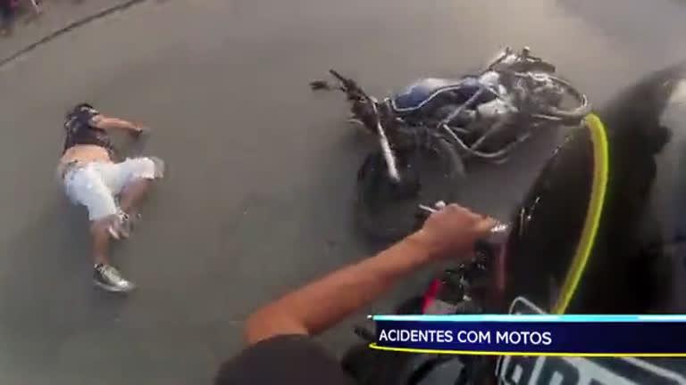 Veja os flagrantes de imprudência com motos no Domingo ...