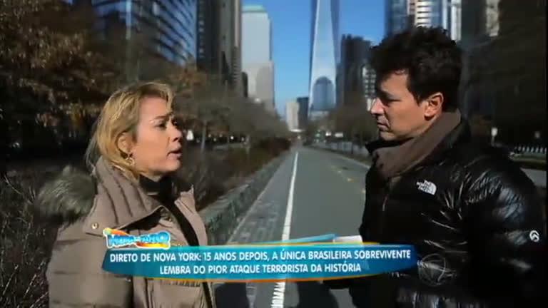 11 de setembro: Faro entrevista brasileira sobrevivente ao ataque ...