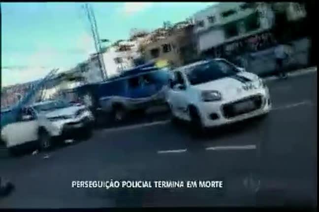 Perseguição policial termina em morte