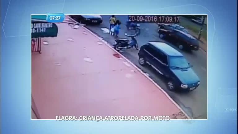 Flagrante: moto atropela criança em Campo Grande - Notícias - R7 ...