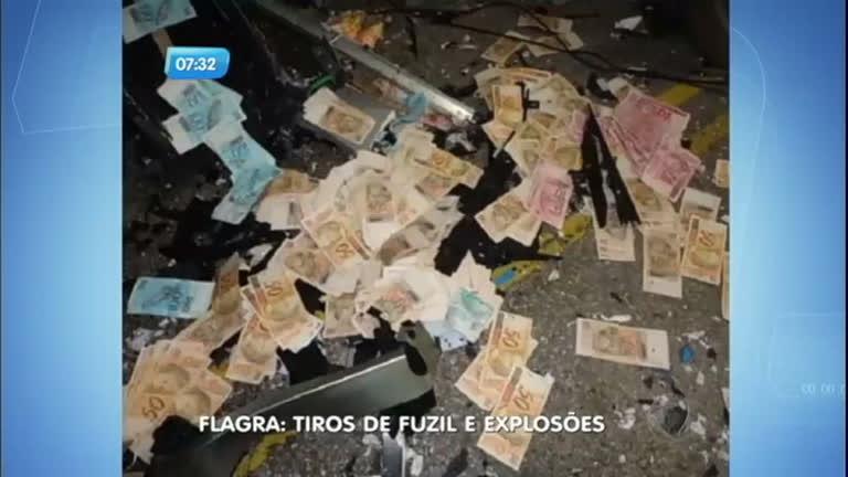 Flagra: bandidos explodem caixas eletrônicos e trocam tiros com ...